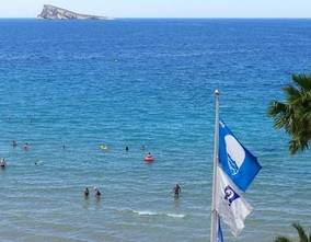 The blue flag will be flying one more year on the Levante, Poniente and Mal Pas beaches.